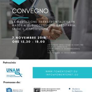 Fomento flyer conference mediation november 2018